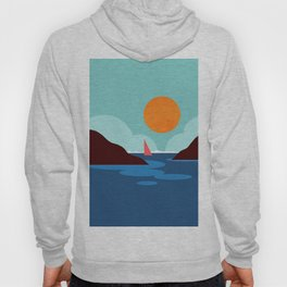 Abstraction_SUNSET_BEACH_OCEAN_Minimalism_001 Hoody
