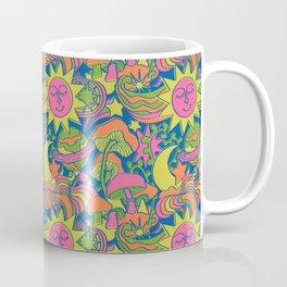 Psychedelic Daydream in Neon + Blue Coffee Mug