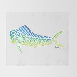 Tribal Mahi Mahi Throw Blanket