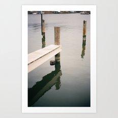 Boat Slip on Duvall Creek Art Print