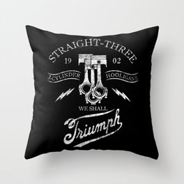 STRAIGHT 3 Throw Pillow