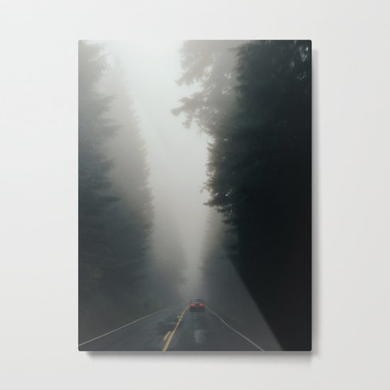Dark Forest Driving Metal Print