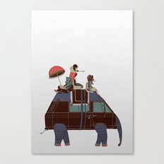Going by Elephant Canvas Print