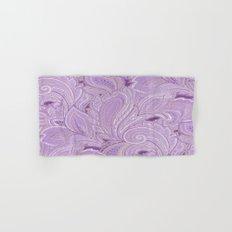 paisley purple Hand & Bath Towel