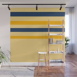 Yellow  blue  stripes  horizontal Wall Mural