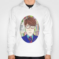 rushmore Hoodies featuring I Saved Latin, What Did You Ever Do? - Rushmore by Lovemaltine