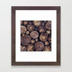 The Wood Holds Many Spirits // You Can Ask Them Now Edit Framed Art Print