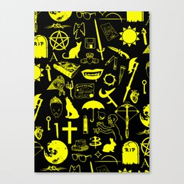 Buffy Symbology, Yellow Canvas Print