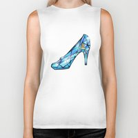 shoe Biker Tanks featuring Cinderella Shoe by Chris Thompson, ThompsonArts.com