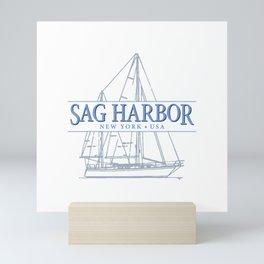 Sag Harbor NY souvenir sailing t-shirt Mini Art Print