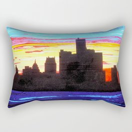 Detroit Skyline Rectangular Pillow