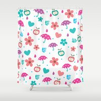 umbrella Shower Curtains featuring Umbrella by One April