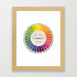 Vintage Color Wheel - Art Teaching Tool - Rainbow Mood Chart Framed Art Print