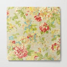 Rose Bird Floral Spring Metal Print