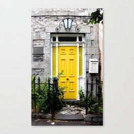 Yellow Door. Canvas Print