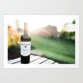 Wine and the Sunset: Landscape Art Print