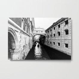 Bridge of Sighs, Venice.  Metal Print