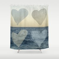 hearts Shower Curtains featuring Hearts by Pure Nature Photos