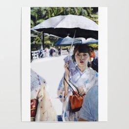 Kyoto   Chalk pastel Poster