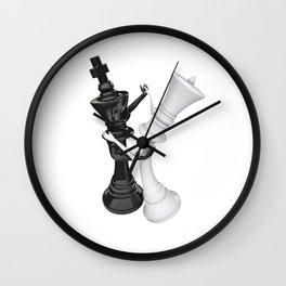 Chess dancers Wall Clock