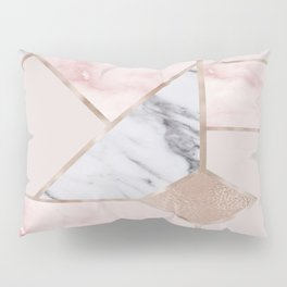 Geometric mix up - rose gold Pillow Sham