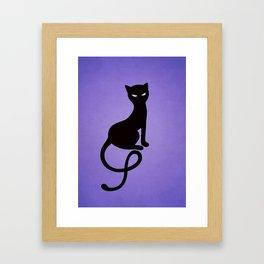 Gracious Evil Black Cat Framed Art Print