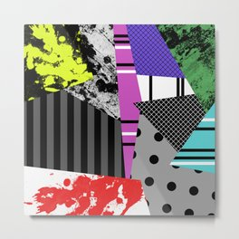 Pick A pattern II - geometric, textured, colourful, splatter, stripes, marble, polka dot, grid Metal Print
