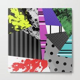 Pick A pattern II - geometric, textured, colourful, splatter, stripes, marble, polka dot, grid Metal Print