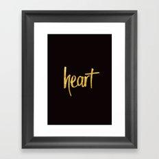 Heart Handwritten Type Framed Art Print