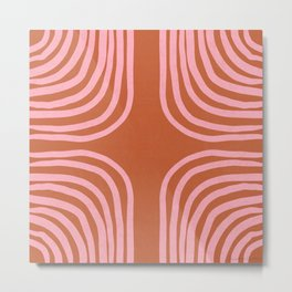 sahara stripes Metal Print