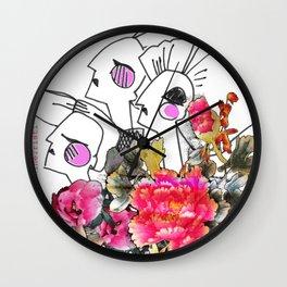 Peonie Wall Clock