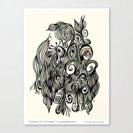 Abstract Garden Canvas Print