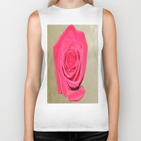 rose gold Biker Tanks featuring Gold 'n Rose by Twilight Wolf