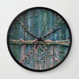 Decorative wooden gate Wall Clock