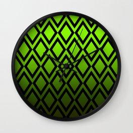 Graduated Vibrant Emerald Green Diamonds Wall Clock