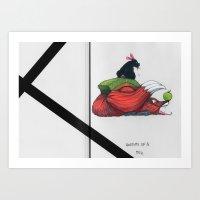 Reynard the Fox // (Anatomy of a you know what) Art Print