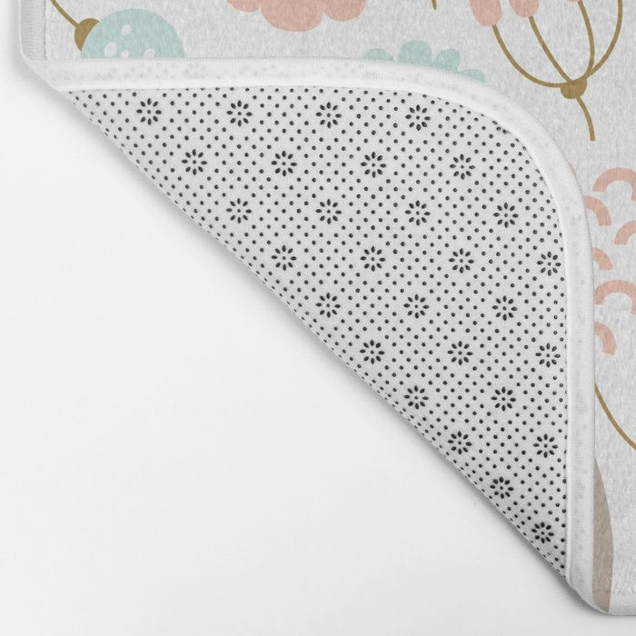 Cute flower pattern Bath Mat