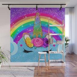 Rainbow Sparkle Unicorn Wall Mural