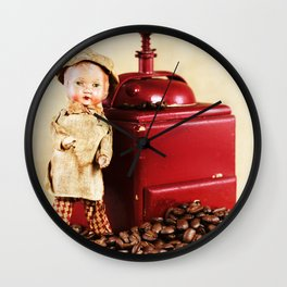 Coffee man 3 Wall Clock