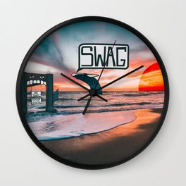 Swag Whale Wall Clock