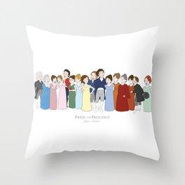Cast of Jane Austen's Pride and Prejudice Throw Pillow