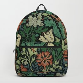 William Morris Compton Floral Art Nouveau Pattern Backpack
