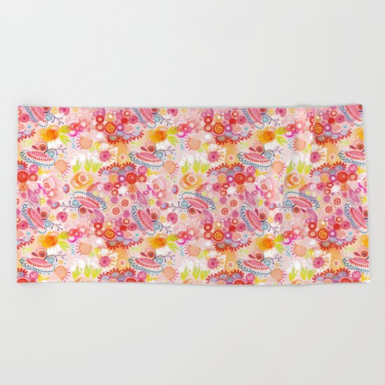 Vibrant summer Beach Towel
