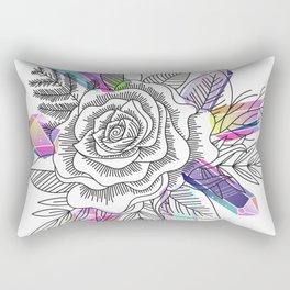 Rose and Crystals Rectangular Pillow