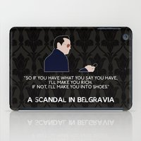 scandal iPad Cases featuring A Scandal in Belgravia - Jim Moriarty by MacGuffin Designs