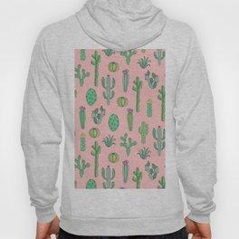 Cactus Pattern Pink Hoody