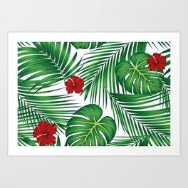 Tropical Summer illustration Art Print