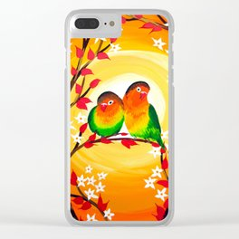 Lovebird phone case Clear iPhone Case