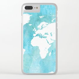 World map. JD Clear iPhone Case