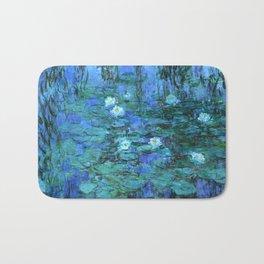 Claude Monet Water Lilies BLUE Bath Mat